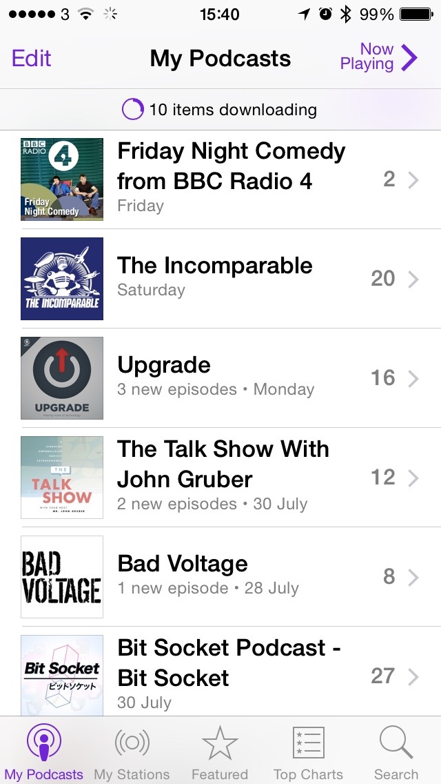 iOS Podcasts
